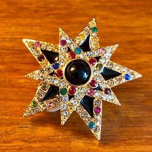 Jay Strongwater: Designer Earrings clip-on crystal